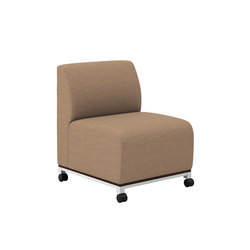 Swift One Seat Lounge Armless Mobile | Sillones lounge | National Office Furniture