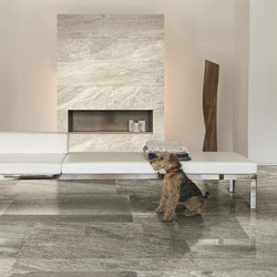 Flagstone | White & Green glossy | Ceramic panels | Casa dolce casa by Florim