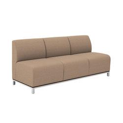 Swift Three Seat Lounge Armless | Divani lounge | National Office Furniture