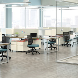 WaveWorks Desk | Systèmes de tables de bureau | National Office Furniture