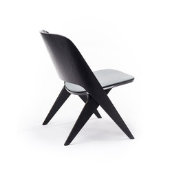 Lavitta lounge chair black, upholstered | Fauteuils d'attente | Poiat