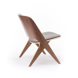 Lavitta lounge chair walnut, upholstered | Loungesessel | Poiat