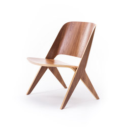 Lavitta lounge chair walnut | Fauteuils d'attente | Poiat