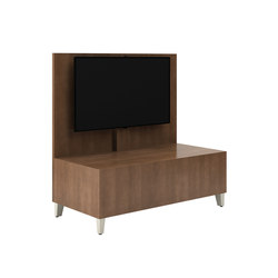 Fringe Double Inline Media Table | AV wall unites | National Office Furniture