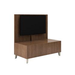 Fringe Double Inline Media Table | Murs multimédia | National Office Furniture