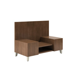 Fringe High Back Double Inline Table with Shelf   Side tables   National Office Furniture