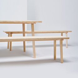 Facile Bench | MC13 | Bancs d'attente | Mattiazzi