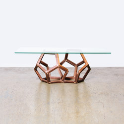 The Walnut Split Polyhedron | Mesas de centro | Bellwether Furniture