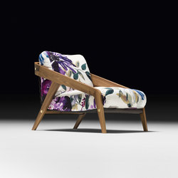 Frisè Armchair | Loungesessel | black tie
