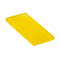 Glasstints | citric yellow matte | Carrelage en verre | Interstyle Ceramic & Glass