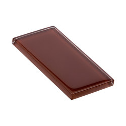 Glasstints | mahogany brown glossy | Azulejos de vidrio de pared | Interstyle Ceramic & Glass