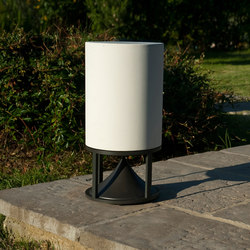 Medium Cylinder concrete white | Sound systems / speakers | Architettura Sonora