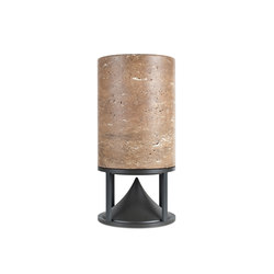 Cylinder Medium standard stones travertine | Sound systems / speakers | Architettura Sonora