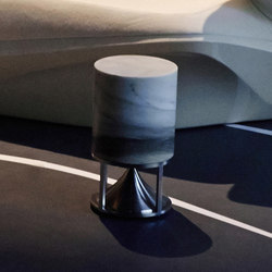 Short Cylinder premium stones zebrino | Sound systems / speakers | Architettura Sonora