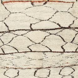 Ivory And Black Beni Ourain Moroccan Rug | Formatteppiche / Designerteppiche | Nazmiyal Rugs