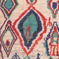 Mid Century Colourful Vintage Moroccan Rug | Formatteppiche | Nazmiyal Rugs