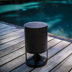Cylinder Short standard stones black marquina | Speakers | Architettura Sonora