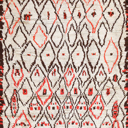Rare White and Red Vintage Moroccan Carpet | Formatteppiche | Nazmiyal Rugs