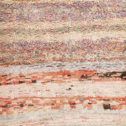 Small Vintage Mid Century Rag Texture Moroccan Carpet 45696 | Rugs | Nazmiyal Rugs