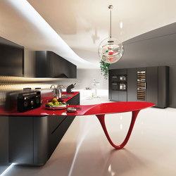 Ola 25 L.E. | black rosso | Fitted kitchens | Snaidero USA