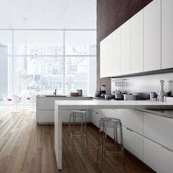 Orange | bianco nordic | Fitted kitchens | Snaidero USA