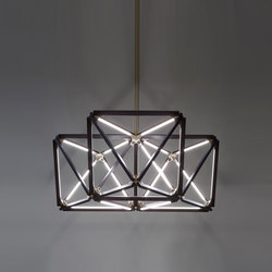 Triple X Chandelier | Suspended lights | STICKBULB