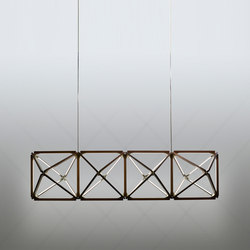 Truss X Chandelier | Suspended lights | STICKBULB
