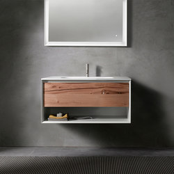 45º furniture | UP • series 900 wall-mount vanity | Waschtischunterschränke | Blu Bathworks