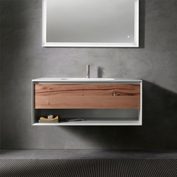 45º furniture | UP • series 1200 wall-mount vanity | Armarios lavabo | Blu Bathworks
