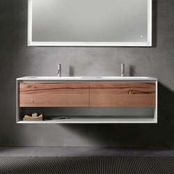 45º furniture | UP • series 1400 wall-mount vanity | Waschtischunterschränke | Blu Bathworks