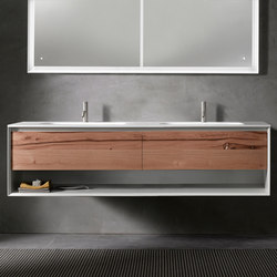 45º furniture | UP • series 1800 wall-mount vanity | Armarios lavabo | Blu Bathworks