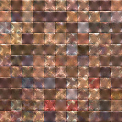 Square 30 iridescent copper | Metall Mosaike | De Castelli