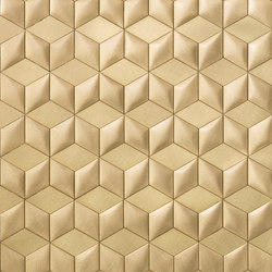 Mosaico brushed brass | Metal floor tiles | De Castelli