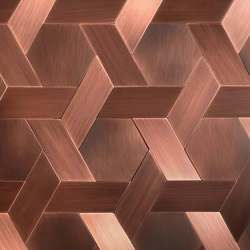 Vienna striped délabré copper | Metal tiles | De Castelli