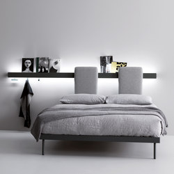 Groove | bed | Wall shelves | CACCARO