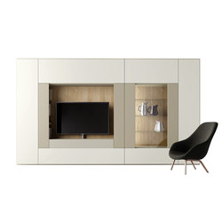 Roomy | tv + showcase module | AV cabinets | CACCARO