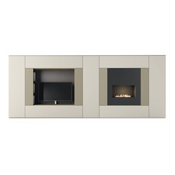 Roomy | tv + fireplace module | Hifi/TV Schränke / Kommoden | CACCARO