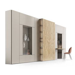 Roomy | showcase + desk module | Cabinets | CACCARO