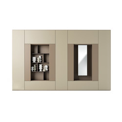 Roomy | bookcase + mirror module | Cabinets | CACCARO