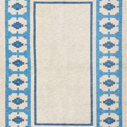 Double Sided Blue Vintage Swedish Kilim | Tapis / Tapis design | Nazmiyal Rugs