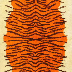 Vintage Animal Pelt Design Swedish Rya Rug | Rugs | Nazmiyal Rugs