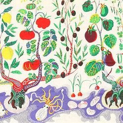 Vintage Cotton Italian Dinner Textile by Josef Frank | Rugs / Designer rugs | Nazmiyal Rugs