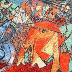 Vintage Pablo Picasso Rug | Formatteppiche / Designerteppiche | Nazmiyal Rugs