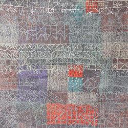 Vintage Paul Klee Carpet | Formatteppiche / Designerteppiche | Nazmiyal Rugs