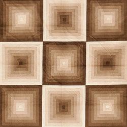 "Vintage ""Quadrat"" Verner Panton Textile in Tan | Rugs / Designer rugs | Nazmiyal Rugs"