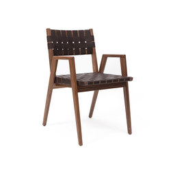 Woven Leather Dining Arm Chair | Chaises de restaurant | Smilow Design