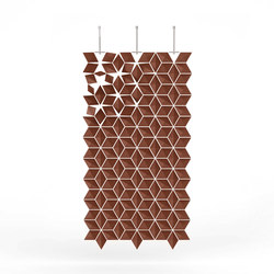 Hanging Room Divider Facet - chestnut | Folding screens | Bloomming