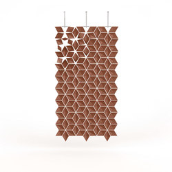 Hanging Room Divider Facet - chestnut | Space dividers | Bloomming