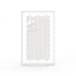 Freestanding Room Divider Facet - white | Space dividers | Bloomming