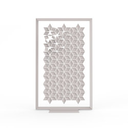 Freestanding Room Divider Facet - pearlgray | Folding screens | Bloomming